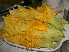 prepared pumpkin flowers