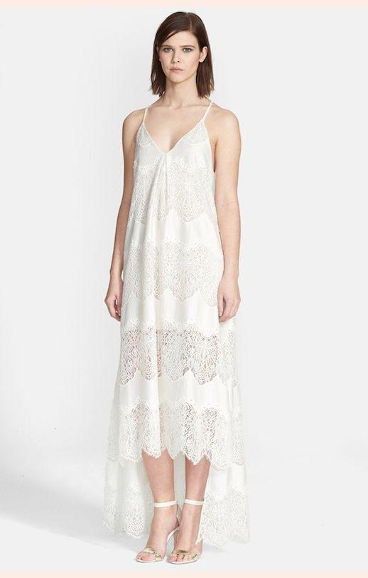 45 Wedding Dresses Under 500 Alice Olivia Vandy Lace Inset High Low Slipdress Budget Affordable Inexpensive photo 45-Wedding-Dresses-Under-500-Alice-Olivia-Vandy-Lace-Inset-High-Low-Slipdress-Budget-Affordable.jpg