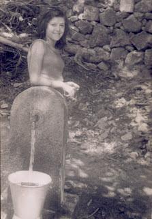 fontaine d'Aullène en 1951