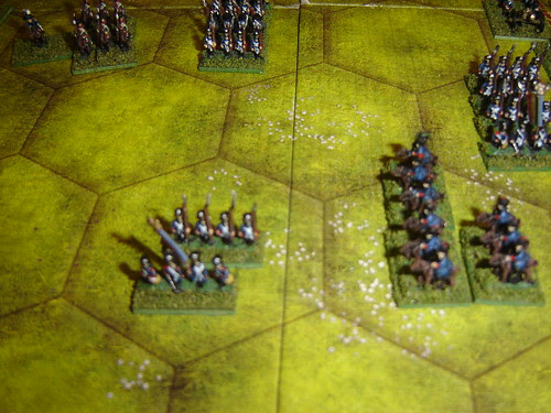 Second Prussian hussar Division decimates French infantry