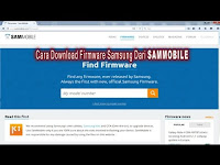 Video Cara Download Firmware Samsung dari SAMMOBILE