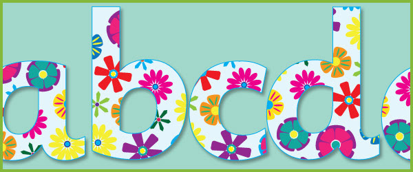 Floral Display Letters | Free Early Years & Primary Teaching ...