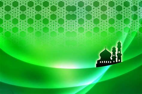 background banner warna hijau islami background check