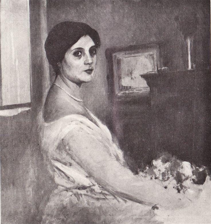 Eliseo Meifrén Roig. Retrato de mujer. Óleo sobre lienzo. Sin firmar.