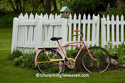 Pink Bicycle, Picket Fence, Richland County, Wisconsin