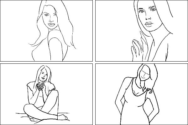 Позы для женского портрета 2