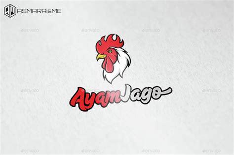 ayam jago rooster logo  asmaraisme graphicriver