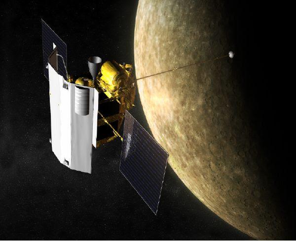 JHU APL artist concept of MESSENGER spacecraft
