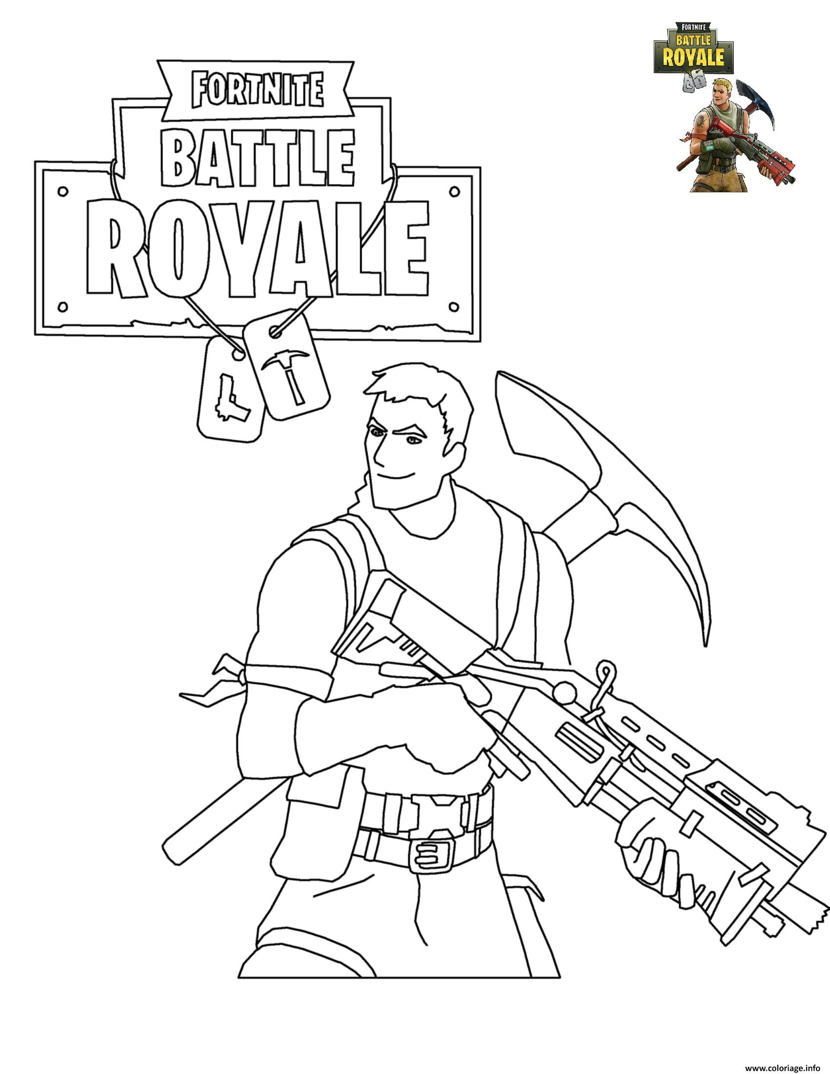 Coloriage Fortnite Battle Royale Jecoloriecom