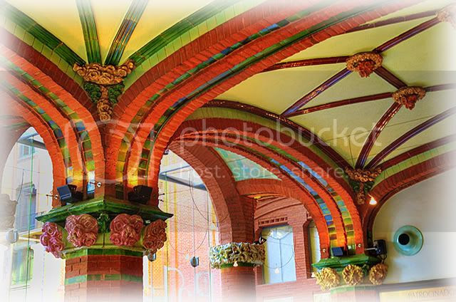 Palau de la Musica Catalana: Modernist Ceiling [enlarge]