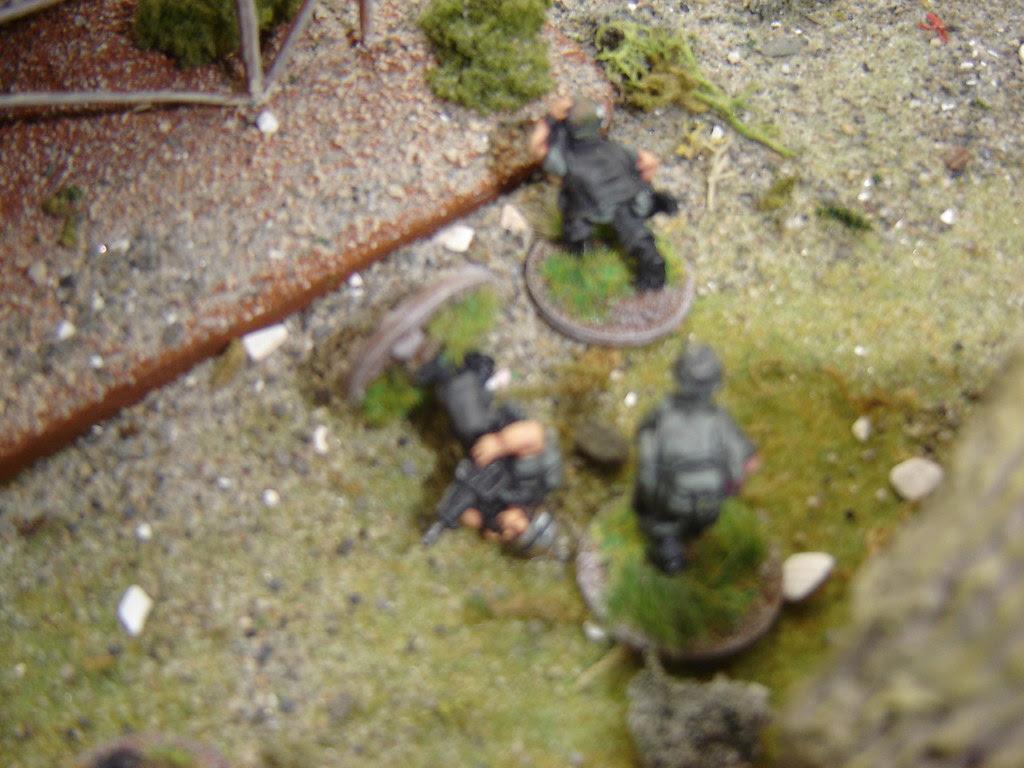 Lieutenant Vanderbolt is hit