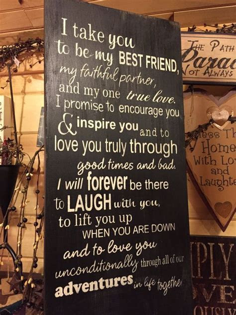 I Take You To Be My Best Friend Wedding Vows Wood Sign