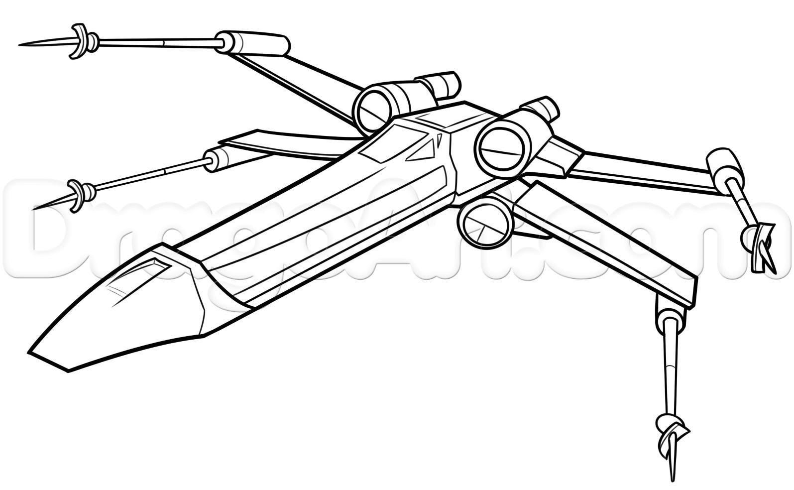 Star Wars X Wing Coloring Pages Coloring And Drawing