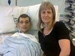 Matthew Stiebrins with his mother Dawn