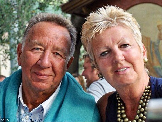 Slaughtered: Janet and John Stocker from Crawley, West Sussex, whose family have confirmed 'with regret and great sadness' that the 'happiest, most loving' couple died in the Tunisia shootings
