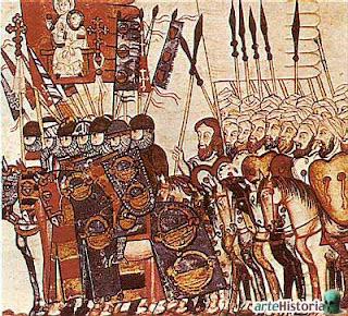 ilustración de la 'Crónica General' de Alfonso X (Siglo XIII)
