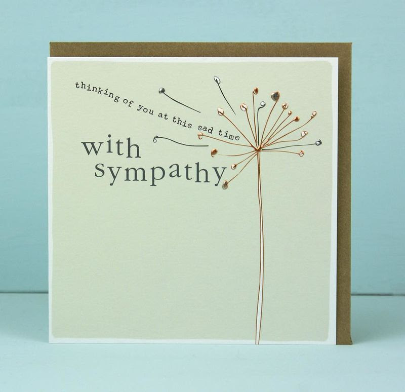 Thinking Of You At This Sad Time With Sympathy Card Karenza Paperie