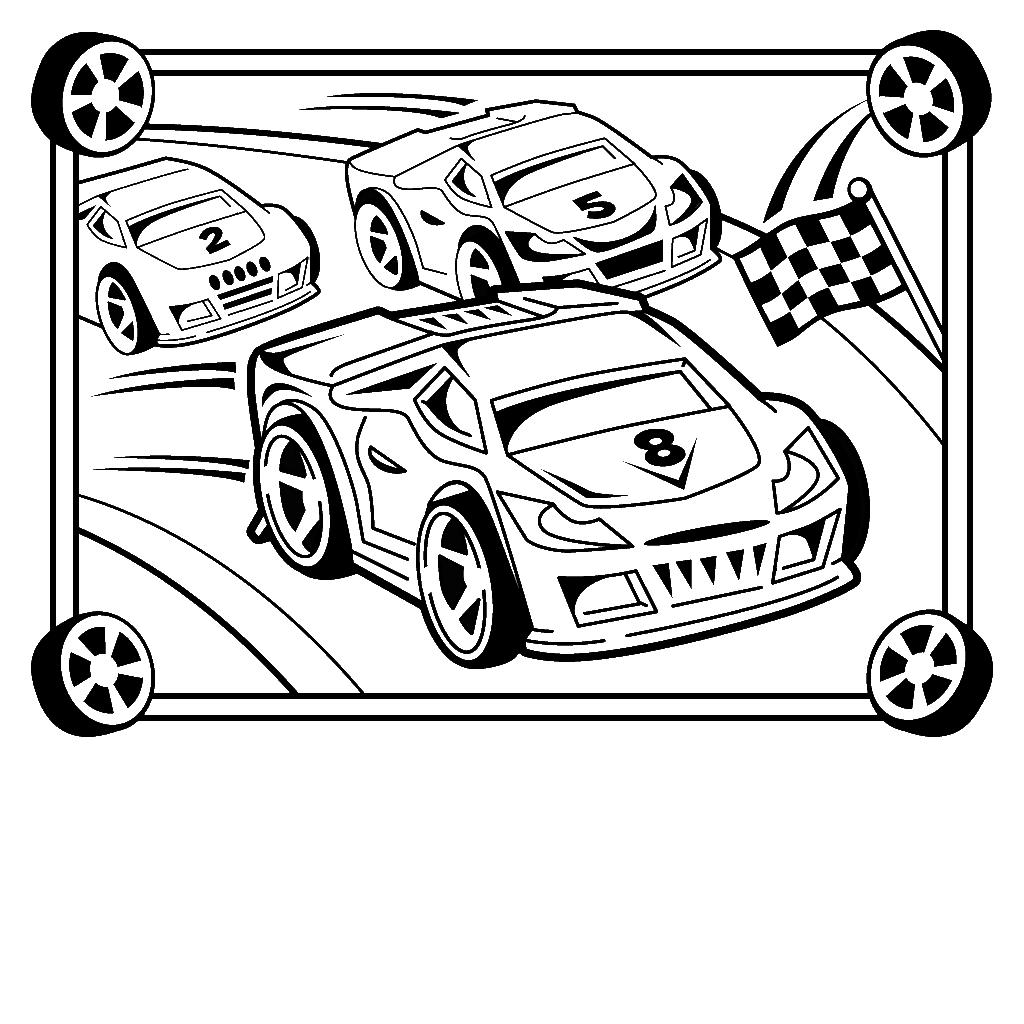 Dessin Dessin de voiture de course a colorier et imprimer
