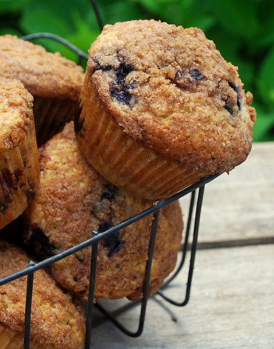 Blueberry Muffin in basket 1
