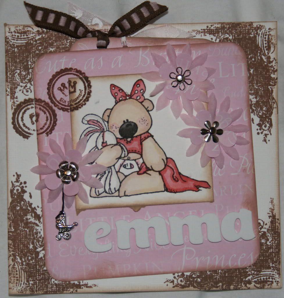 Babykort til Emma med tag!