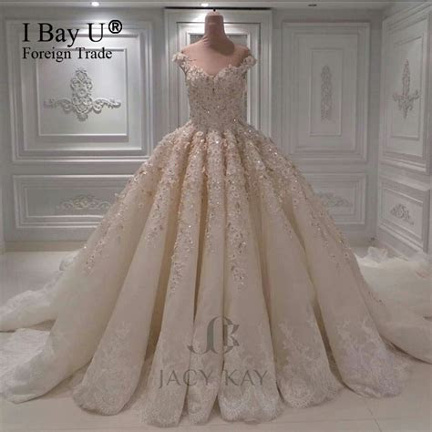 New Bride Luxury Heavily Beaded Top Wedding Dresses With