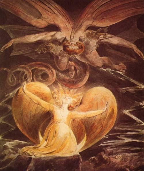 william blake dragon. William Blake, The Great Red