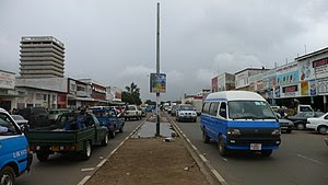 Street in Lusaka, Zambia