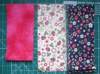 Escolha tecidos para o seu composée de nine-patch