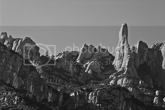 Montserrat mountain in black and white [enlarge]
