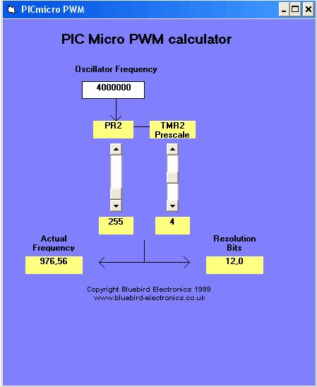pic micro pwm tính toán