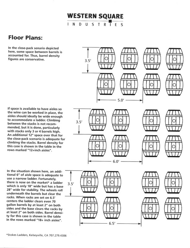 Barrel Rack Density Barrel Room Floor Plan Enotools