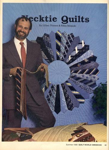 Men's ties quilt