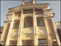 Huge mansion in a suburb outside Moscow in Russia