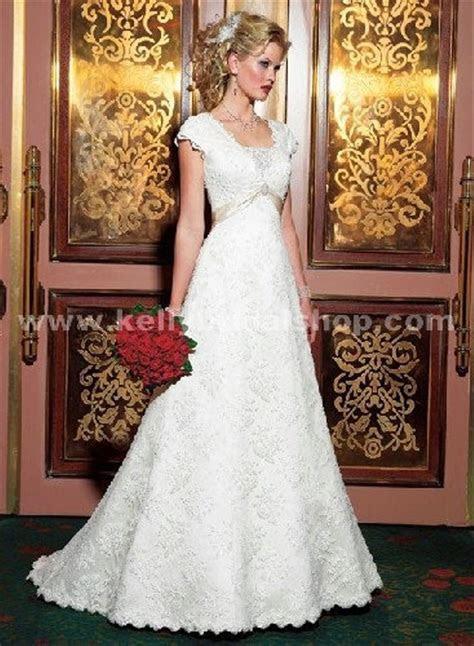 Maggie Sottero Diamond White Lace Over White Gold Satin