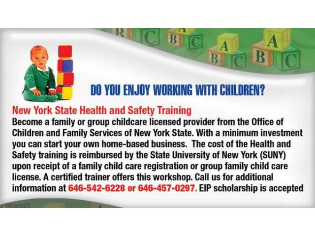Health and Safety Training to become a Group Day Care ...