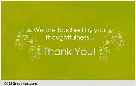 Touched By Your Thoughtfulness  Free Wedding