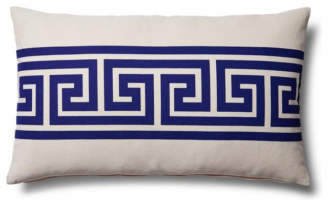 Lumbar Home Decor Accent Pillow, Navy transitional-decorative-pillows