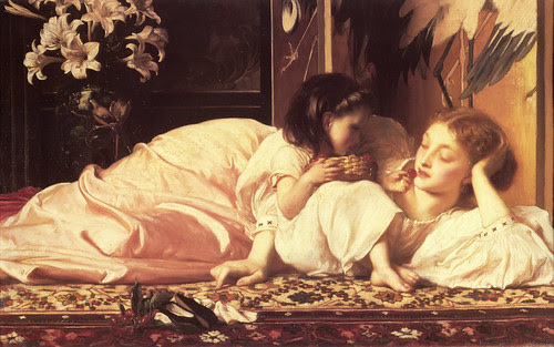 Lord Frederick Leighton - 'Mother and Child'