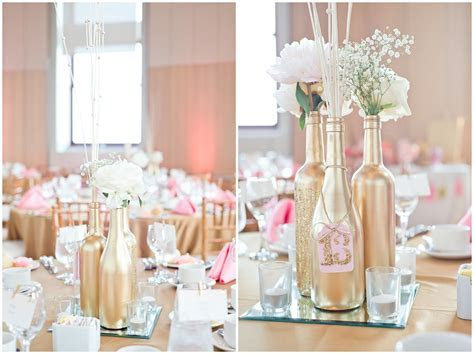 Lisa   Brennan   My wedding   Wine bottle centerpieces