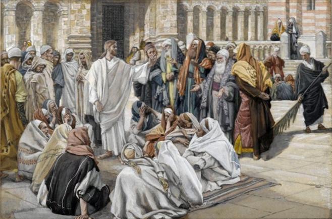 Ficheiro:Brooklyn Museum - The Pharisees Question Jesus (Les pharisiens questionnent Jésus) - James Tissot.jpg