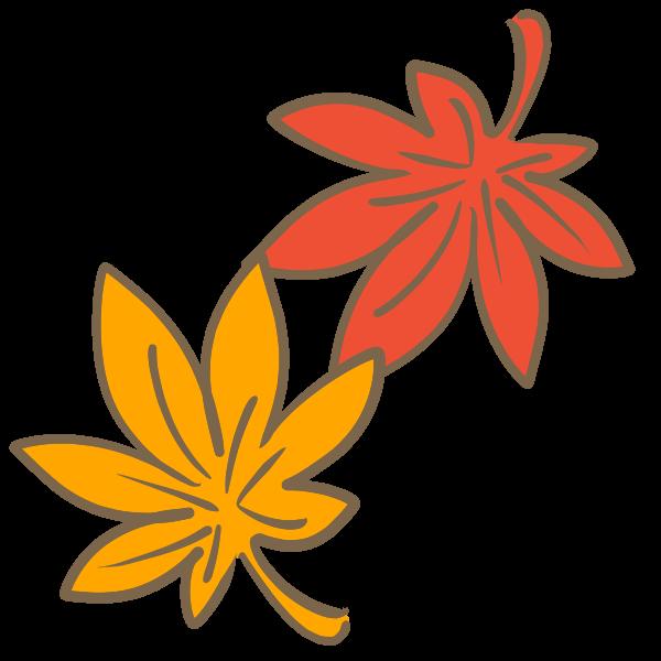 もみじの葉のイラスト かわいいフリー素材が無料のイラストレイン