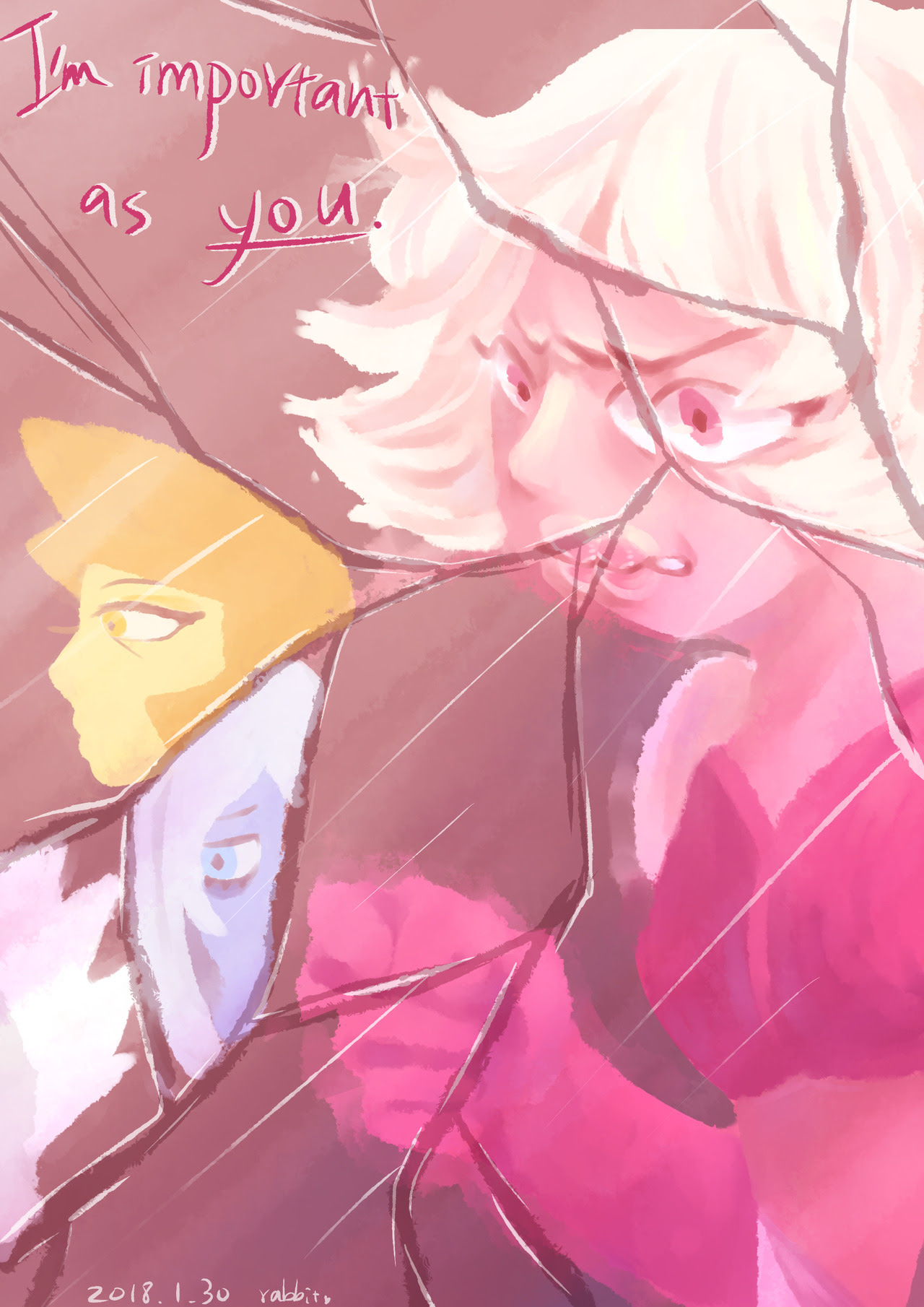 SU doodles. I love diamonds T-T 塗了很多很開心