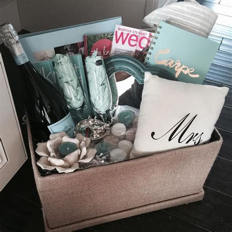 Engagement gift basket for my brothers new fiancé The knot