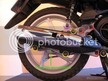 desmontar roda traseira neo