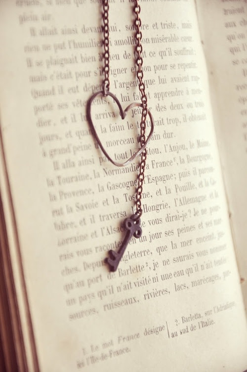 Pretty Things / rustic copper heart and key necklace by bellehibou