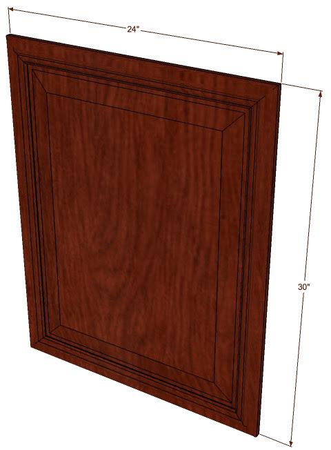 Brandywine Maple Base Decorative Door - 24 Inch Wide x 30 ...