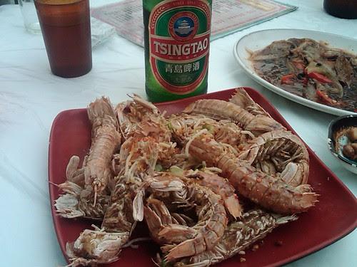 Mantis prawns on Cheung Chau