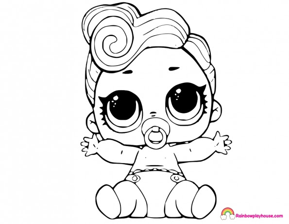 Lol Baby Doll Coloring Pages Coloring And Drawing