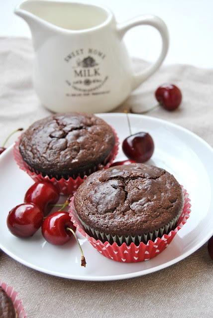 Chocolate Orange Muffins (with cherries)