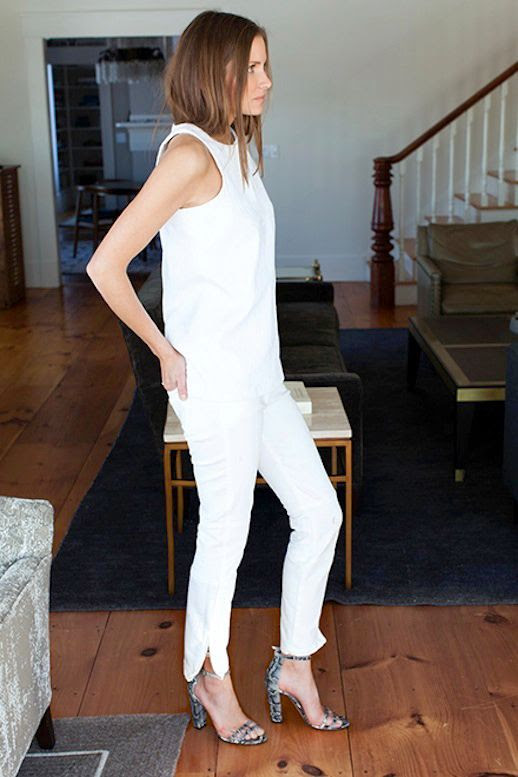 Le Fashion Blog Whites Neutrals Emerson Fry SS 2014 Lookbook Portia Top In White Brocade Tank Top Mick 2 White Denim With Ankle Zipper Cobra Embossed Thin Ankle Strap Heel Sandals 6 photo Le-Fashion-Blog-Whites-Neutrals-Emerson-Fry-SS-2014-Tank-Cobra-Sandals-6.jpg